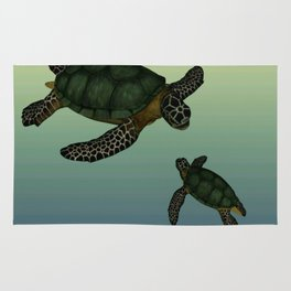 Sea Turtles 2 Rug