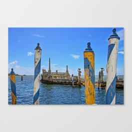Vizcaya Barge Adventures Canvas Print