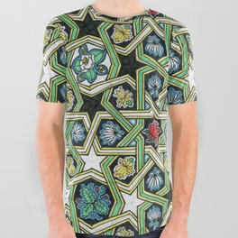 8-fold Rosettes with Flowers All Over Graphic Tee