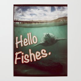 Hello Fishes Poster