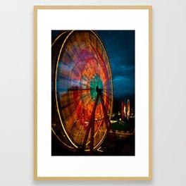 The Big Wheel Framed Art Print