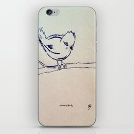 Curious Bird Ink Drawing iPhone Skin