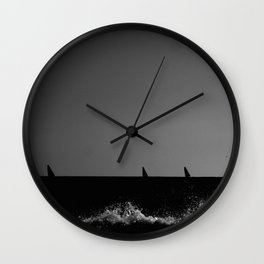 Sailboats from the seashore Wall Clock