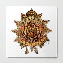 Keep Korma and Curry On Metal Print