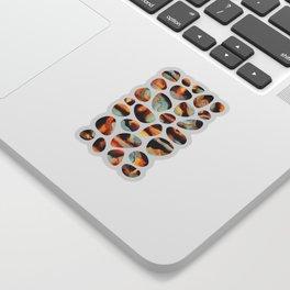 Fiery Pebbles Sticker