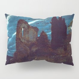Twilight of the Abandoned Isles landscape painting by Arnold Bocklin Pillow Sham