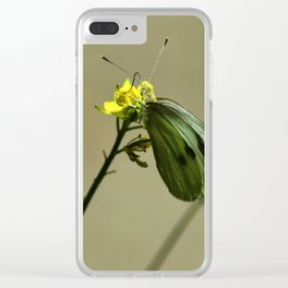 Green Winged Fairy Butterfly Clear iPhone Case