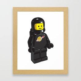 Vintage Black Spaceman Minifig Framed Art Print