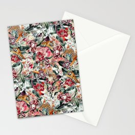 Tigers and Flowers Stationery Cards