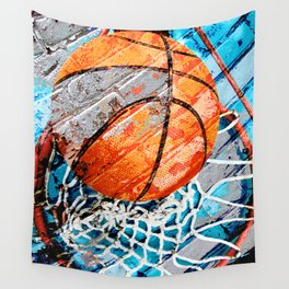 Modern basketball art 3 Wall Tapestry