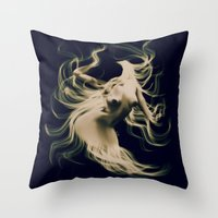 goddess Throw Pillows featuring Goddess  by    Amy Anderson