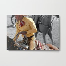 Yellow Rider Metal Print