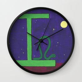 I is for Inchworm Wall Clock