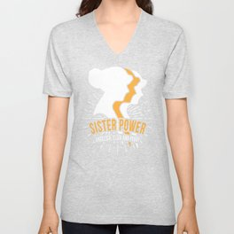 Schuyler Sisters T Design Gift for Eliza, Peggy and Angelica Fans Founding Father Wives Hamilton Unisex V-Neck