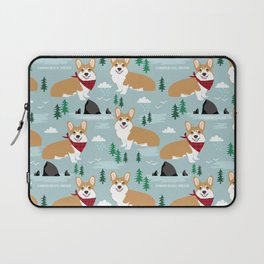 Corgi cannon beach oregon northwest vacation seaside welsh corgis Laptop Sleeve