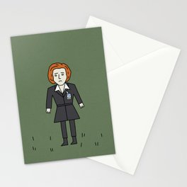 Sad Scully in a Field Stationery Cards