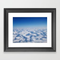 Blue Sky White Clouds Color Photography Framed Art Print