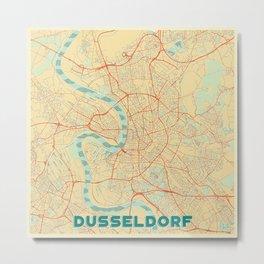 Dusseldorf Map Retro Metal Print