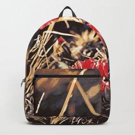 Desert Cactus Flower Watercolor Style Vector Backpack