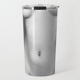 Black and white nude woman's body Travel Mug