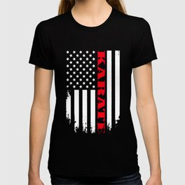 Patriotic Karate Player - Flag T-shirt