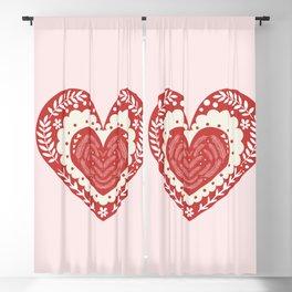 Nordic Triple Heart Blackout Curtain