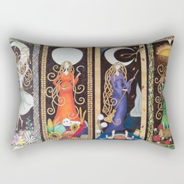 Divining Crone Rectangular Pillow