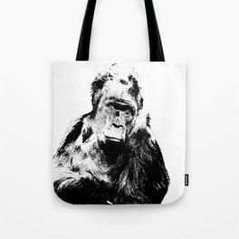 Gorilla In A Pensive Mood Portrait #decor #society6 Tote Bag