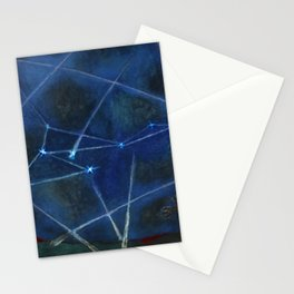 Heavenly Bodies, Stars, Constellations, & Milky Way landscape painting by Rufino Tamayo Stationery Cards