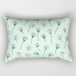 Dainty Wildflowers - Mint & Blush Rectangular Pillow