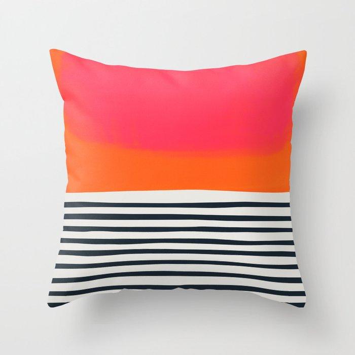 Sunset Ripples Throw Pillow