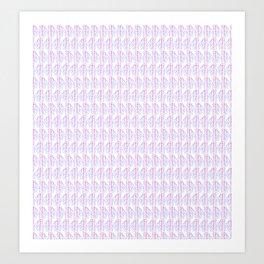 Pink & Blue Boho Print Art Print