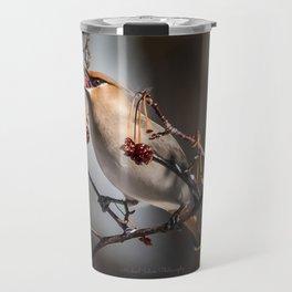 Cedar Waxwing Berry Flip Travel Mug