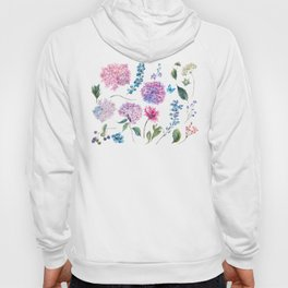 Blooming Hydrangea and garden flowers Hoody