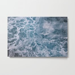 Foamy Blue Ocean Metal Print