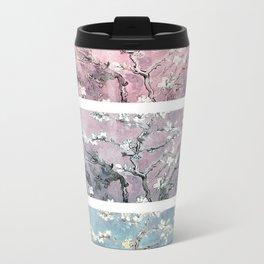 Vincent Van Gogh : Almond Blossoms Panel arT Pastel Pink Blue Teal Travel Mug
