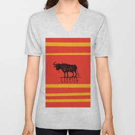 bullfighting corrida Unisex V-Neck