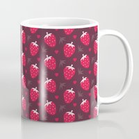 nutella Mugs featuring STRAWBERRIES AND CHOCOLATE by Daisy Beatrice