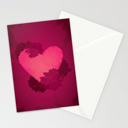 Heart and flowers Stationery Cards