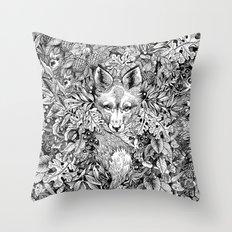 hidden fox Throw Pillow