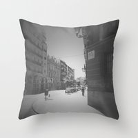 real madrid Throw Pillows featuring Madrid by Jane Lacey Smith