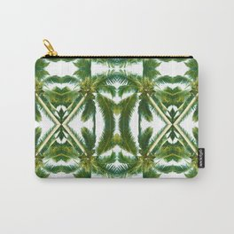 Palm Tree Kaleidoscope (on white) #2 Carry-All Pouch