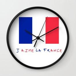Flag of France 11- France, Français,française, French,romantic,love,gastronomy Wall Clock
