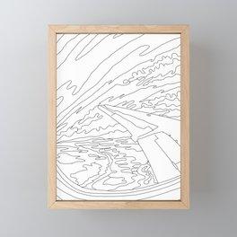 Migrating North Framed Mini Art Print