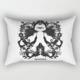 Megaman Geek Ink Blot Test Rectangular Pillow
