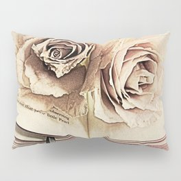 Roses on Book Library Art A113 Pillow Sham