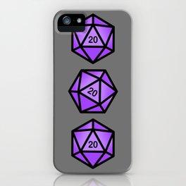 Purple d20 iPhone Case