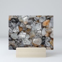 Singing beach sand under a microscope Mini Art Print