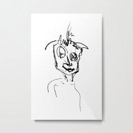 A man line drawing Metal Print