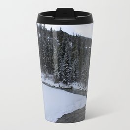 Ski Lodge River Travel Mug